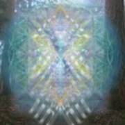 Chalice-tree Spirit In The Forest V1 Art Print
