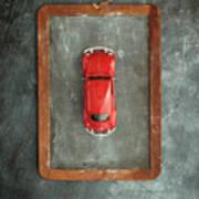 Chalkboard Toy Car Art Print