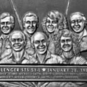 Challenger Crew Art Print