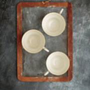 Challkboard Tea Cups Art Print