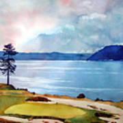 Chambers Bay 15th Hole Art Print by Scott Mulholland
