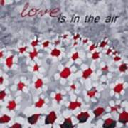 Champs De Marguerites - Love Is In The Air - Red -a23a3 Art Print