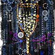 Champagne Flute Art Print by Russell Pierce