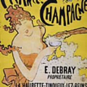 Champagne Poster, 1891 Art Print