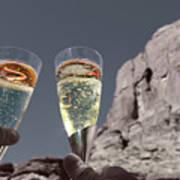 Champagne Wish Art Print by Angie Wingerd