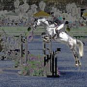 Champion Horse Jumper Art Print