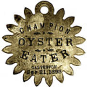 Champion Oyster Eater - To License For Professional Use Visit Granger.com Art Print
