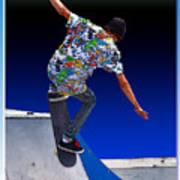 Champion Skater Art Print