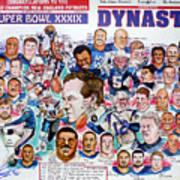 Championship Patriots Newspaper Poster Art Print