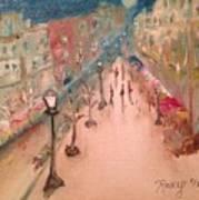 Champs De Elysee At Twilight. #paris Art Print