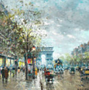 Champs Elysees Avenue, Paris Art Print