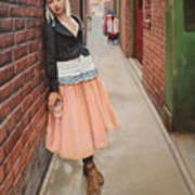 Chance Meeting In Fan Tan Alley Art Print