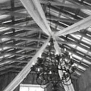 Chandelier In The Rafters Art Print