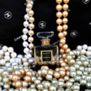 Chanel Coco With Pearls Art Print