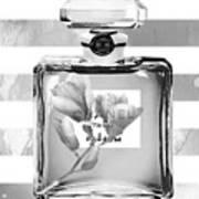 Chanel Flower Grey Art Print