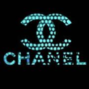 Chanel Light Blue Points Art Print