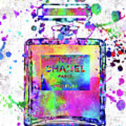 Chanel N.5 Colorful 5 Art Print