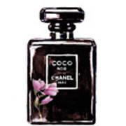 Chanel Noir Magnolia Pink Art Print