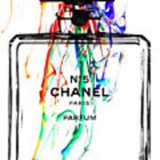 Chanel No. 5 White Art Print