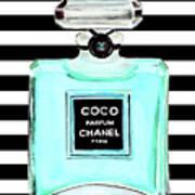Chanel Perfume Turquoise Chanel Poster Chanel Print Art Print