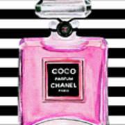 Chanel Pink Perfume 1 Art Print