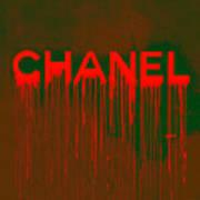 Chanel Plakative Fashion - Neon Weave Art Print