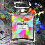 Chanel Rainbow Colors Art Print