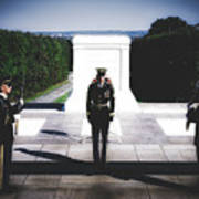 Changing Of The Guard At The Tomb Of The Unknowns At Arlington Art Print
