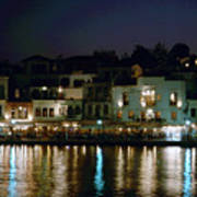 Chania By Night  Art Print