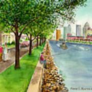 Channel Drive Tampa Florida Art Print