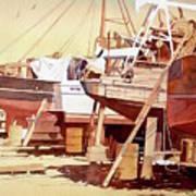 Chantier Naval Art Print