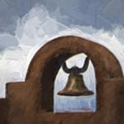 Chapel Bell Chimayo Painterly Effect Art Print