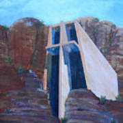 Chapel in the Mountains Art Print