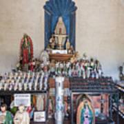 Chapel Mortuary Interior - San Xavier Del Bac Mission - Tucson Arizona Art Print