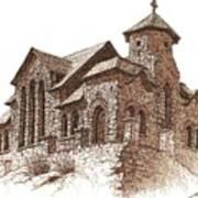 Chapel On The Rock Art Print