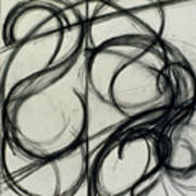 Charcoal Arc Drawing 6 Art Print