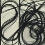 Charcoal Arc Drawing 7 Art Print