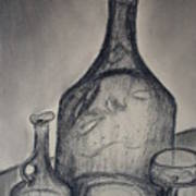 Charcoal  Glass Art Print