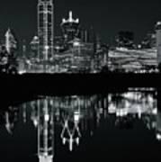 Charcoal Night In Dallas Art Print