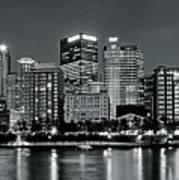 Charcoal Panoramic In Pittsburgh 2017 Art Print