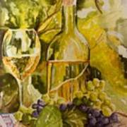 Chardonnay At The Vineyard Art Print