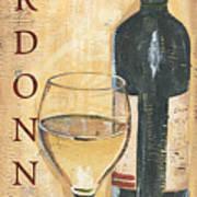 Chardonnay Wine And Grapes Art Print