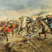 Charge Of The Seventh Cavalry Art Print