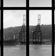 Charging Dock Of Barcelona Art Print
