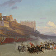 Chariot Race Art Print