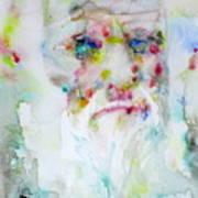 Charles Darwin - Watercolor Portrait.5 Art Print
