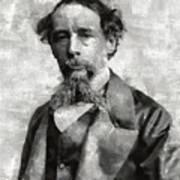 Charles Dickens Author Art Print