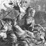 Charles Martel, Battle Of Tours, 732 Art Print by Photo Researchers