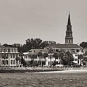 Charleston Battery South Carolina Sepia Art Print