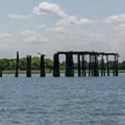 Charleston Export Coal Terminal Wooden Testle Art Print